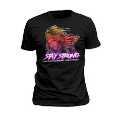 Short Sleeve T/Black/Stay Strong 3