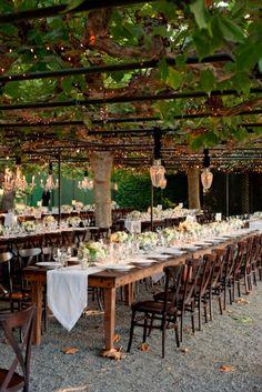 Tablescape, Beaulieu Garden, Flowers by: Sharla Flock Designs, Wedding Planner: Stacy Mccain Event Planning - California Wedding http://caratsandcake.com/michelleandtommy