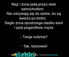 Mąż i żona jadą przez wieś samochodem. Funny Mems, Keep Smiling, Good Jokes, Just Smile, Man Humor, Motto, Best Quotes, Texts, Haha