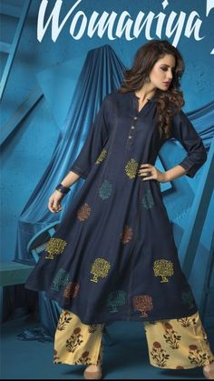 Beautiful block print on muslin kurti