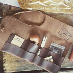 """craftandlore: """"A Rustic Pipe Roll for the gentleman who only packs his tobacco pipe around in the classiest way possible. Wooden Smoking Pipes, Pipe Smoking, Tobacco Pipes, Cigar Smoking, Vape Accessories, Wedding Gifts For Groomsmen, Leather Workshop, Pipes And Cigars, Leather Projects"""