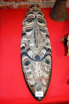 Vintage, carved timber New Guinea Sepik River mask