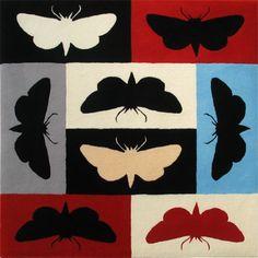 Moth rug square. Designer Richard Killeen. Dilana Rugs New Zealand