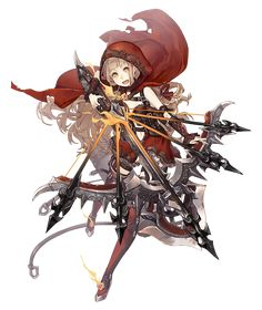 View an image titled 'Red Riding Hood, Gunner Job Art' in our SINoALICE art gallery featuring official character designs, concept art, and promo pictures. Game Character Design, Fantasy Character Design, Character Design Inspiration, Character Concept, Character Art, Fantasy Characters, Anime Characters, Anime Krieger, Tamako Love Story