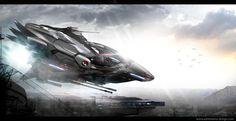 spaceship concept - photoshop work