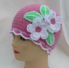Apple blossoms crocheted hat... Free pattern!!