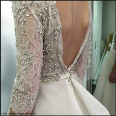 Beading and lace detail.
