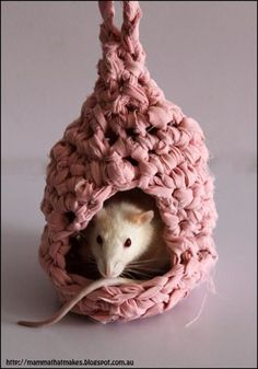 DIY Crochet Rat House Tutorials and Patterns from Mamma That...