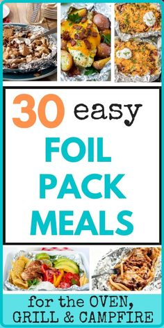 Foil pack meals are a huge win any time of the year! They can be made in the oven, on a grill, or over a campfire! And, maybe best of all - no mess! These individual meals are perfect and can be customized for picky eaters! Here you'll find recipes for dinner, sides, breakfast and even dessert! Come see what you're missing! #foilpacks #dinner #sides #breakfast #chicken #beef #easy #camping #grill Fun Easy Recipes, Delicious Dinner Recipes, Summer Recipes, Real Food Recipes, Amazing Recipes, Chicken Recipes, Foil Pack Meals, Foil Dinners, Healthy Grilling
