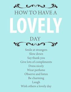 #howto #lovelyday #inspiration