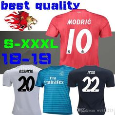 8fdc33e40 2019 18 19 Real Madrid Home Away Soccer Jersey 2018 2019 Third RED Asensio  RAMOS BALE KROOS ISCO Casemiro Football Shirts Courtois Goalkeeper From  Wu717273