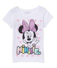 79ebc25ab9 Evy of California White Minnie Mouse Bows Tee - Girls. Disney LányokÚti ...