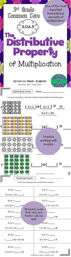 math worksheet : 1000 ideas about distributive property on pinterest  properties  : Distributive Property Of Multiplication Worksheets 3rd Grade