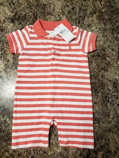 Girls' Clothing (newborn-5t) Soft And Antislippery Baby Girl Ralph Lauren Romper 3-6 Months ???