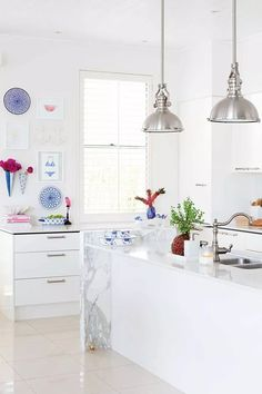 Need inspiration for your contemporary kitchen? From colour to cabinets – here are Home Beautiful's picks for some of the best modern kitchen design ideas. Modern Kitchen Design, Modern Kitchens, Kitchen Dinning, The Hamptons, Contemporary, Cabinet, Table, Inspiration, Furniture