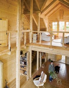 Wooden house without nails