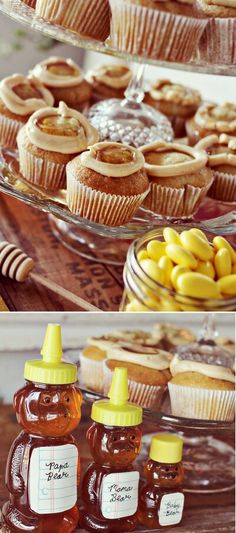 Mmmm...honey topped cupcakes!