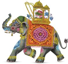Macy's Flower Show. The Painted Garden Sunday March 24 -- Sunday April 7 send a Petal Gram message to your friends. Indian Elephant Art, Elephant Love, Indian Illustration, Elephant Illustration, Elefante Hindu, Rajasthani Painting, Elephant Quilt, Tanjore Painting, Madhubani Art