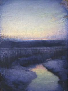 John Felsing ~ Landscape with Water at Evening