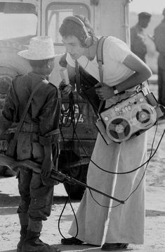 14 year-old Boy soldier interviewed by Cuban Radio during Angolan War. by Clive Limpkin, about 1976