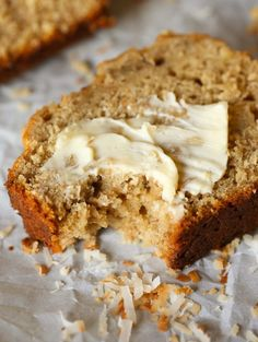 Toasted Coconut Banana Bread. Moist, soft and loaded with toasted coconut...a fun spin on a classic