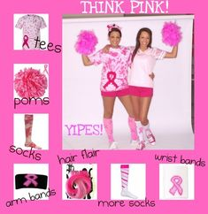 This site has a lot of cute breast cancer gear. It would be perfect for Race for the Cure!