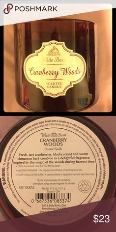 Bath and Body Works 3 Wick Candle Cranberry Woods Bath and Body Works 3 Wick Candle Cranberry Woods. Brand new. This style did not come with a lid. Looking to trade for another 3 wick Bath and Body Works Candle Bath and Body Works Other