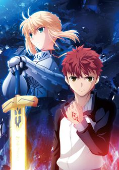 Fate Stay Night Unlimited Blade Works. Saber and Shirou