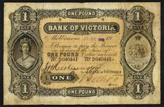 Bank of Victoria Limited (1853-1927) 1908 One Pound Issued Note MVR3c