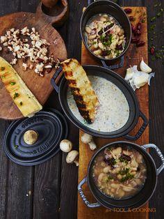 木の子のクリームスープ 薪ストーブと料理