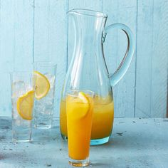 Three ingredients make up this delicious Lemon-Orangeade! More healthy drinks here: http://www.bhg.com/recipes/drinks/healthy-drinks/?socsrc=bhgpin062914lemonorangeadepage=5