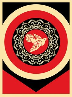 Obey-Giant-Peace-Dove-Black-Red (Shepard Fairey)