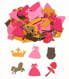Items similar to Princess Aurora Inspired Party Confetti Set of 100 Assorted Pieces - Sleeping Beauty on Etsy Princess Party Decorations, Princess Aurora, Confetti, Etsy Shop, Handmade Gifts, Inspired, Kid Craft Gifts, Craft Gifts, Diy Gifts