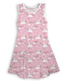 Pink Cool Unicorns Sleeveless Dress - Toddler & Girls #zulily #zulilyfinds