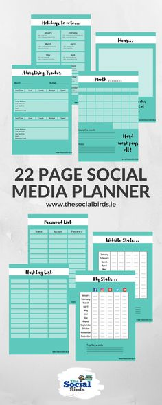 Planner your monthly #content keep track of your hashtags and passwords, enjoy some fun #socialmedia holidays and more! Check out our 22 Page Social Media Planner to get you focused on what matters in your #marketing strategy 😃