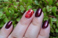 ♥♥♥ Darly Polisholic ♥♥♥: ♥♥ Swatch Glow N°42 - Bordeaux by Divina nail art ♥♥