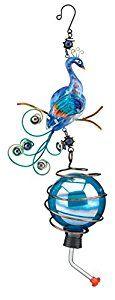 Amazon.com : Regal Art and Gift Peacock Hummingbird Feeder, Blue : Patio, Lawn & Garden
