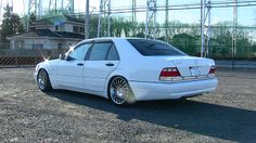 Mercedes Benz w140 s600 white Japan
