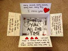 """""""I miss you all the time"""" care package for Ted! Deployment care package or just… Military Love, Army Love, Military Deployment, Deployment Gifts, Deployment Quotes, Usmc Quotes, Quotes Quotes, Deployment Care Packages, Missionary Packages"""