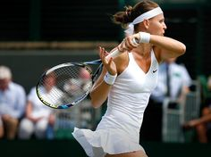 7/1/14 Lucie Into Her 1st Ever SFs of The Championships, Wimbledon! #23-Seed Lucie Safarova upset #22-Seed Ekaterina Makarova 6-3, 6-1.