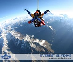 who wouldn't want to skydive over Mt Everest?