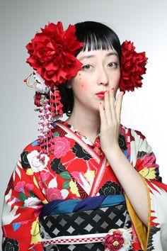 colorful kimono and obi
