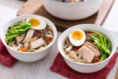 Japanese ramen soup with pork