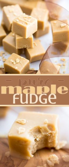 Pure Maple Fudge A true staple in Québec, Maple Fudge (aka sucre à la crème) is a smooth, creamy and sinfully decadent maple treat that tastes like pure heaven. - Pure Maple Fudge by My Evil Twin's Kitchen Delicious Fudge Recipe, Best Fudge Recipe, Recipe Recipe, Recipe Ideas, Holiday Baking, Christmas Baking, Christmas Recipes, Maple Syrup Recipes, Maple Dessert Recipes