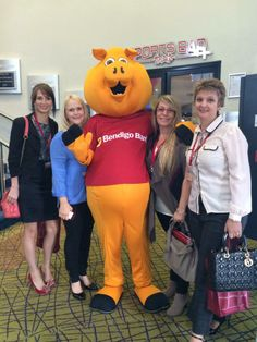Look who Bec, Justine, Karen W and Sandra ran into at our State Conference in Hervey Bay!