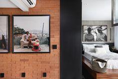 Apartamento de 46 m² com cozinha escondida! Confira no link imagens! (Foto: Mariana Orsi) #decor #decoração #decoration #decoración #apartamento #apartment #bedroom #quartos #casavogue