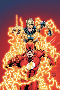 Flash and Booster Gold by Dan Jurgens