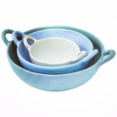 Perfect for #patio dining and #summer meals! These two-handled bowls are new #HeathersPicks. Get them in stores or on Indigo.ca #IndigoHome #Instagram Chapters Indigo, Patio Dining, Tableware, Bowls, Turquoise, Gift Ideas, Food, Garden, Kitchen