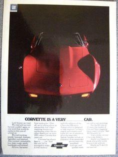 1975 Corvette Advertisement