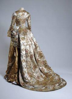Pingat dinner dress 1878 (back)